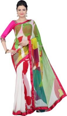 Jashn Floral Print Fashion Georgette Sari