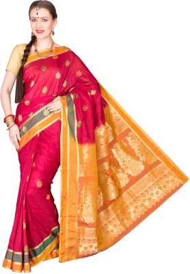 Shristi Self Design Fashion Handloom Art Silk Sari
