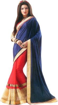 A Square Jodhpur Self Design Fashion Georgette, Chiffon Sari