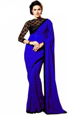 Aakansha Solid Bollywood Chiffon Sari
