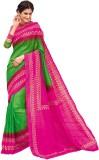 Vipul Printed Fashion Silk Saree (Green)
