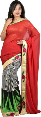 Nyaye Self Design Fashion Synthetic Sari