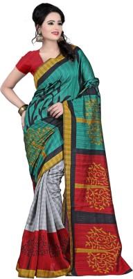 Shristy Fashion Printed Bhagalpuri Printed Silk Sari