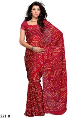 ST saree Printed Bandhani Art Silk Sari