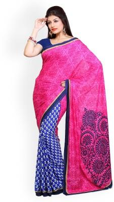 Lucky Fashion Printed Bollywood Denim Sari