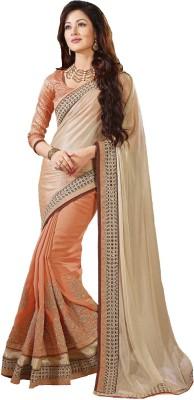 Fashion Forever Embriodered Fashion Lycra Sari