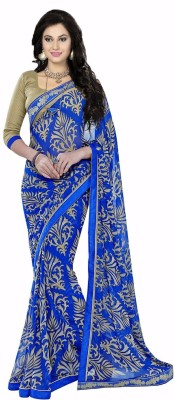 Ishin Prints Printed Fashion Georgette Sari