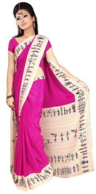 Chirmangal Geometric Print Fashion Crepe Sari