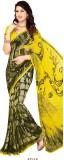 PSHOPEE Printed Fashion Chiffon Saree (Y...
