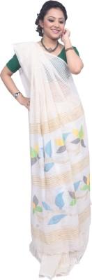 Tanjinas Floral Print, Woven Phulia Handloom Cotton Sari