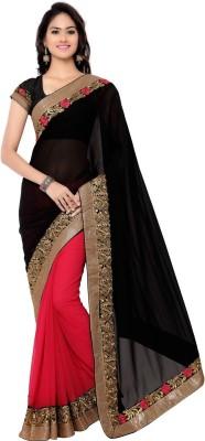 Ram Fashion Self Design Fashion Georgette Sari