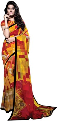 Meera Fashion Geometric Print Fashion Georgette Sari