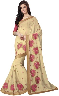 Cutie Fashion Self Design Fashion Handloom Georgette Sari