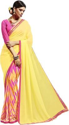 Dilwaa Self Design, Embellished Fashion Georgette Sari