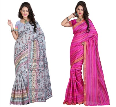 StyleOn Fashion Printed Bhagalpuri Silk Sari