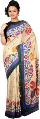 Womilo Floral Print Kosa Art Silk Sari