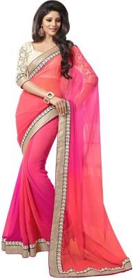 Mahek Saree Solid Fashion Handloom Georgette Sari