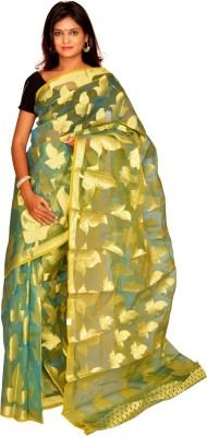 Jagadamba Solid Fashion Organza Sari