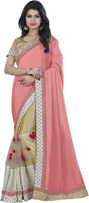 Mahotsav Embroidered Fashion Georgette Saree(Pink) at flipkart