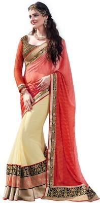 DesiButik Embriodered Fashion Jacquard Sari