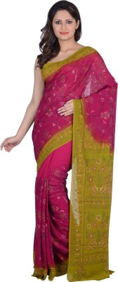 RB Sarees Embriodered Katha Pure Georgette Sari