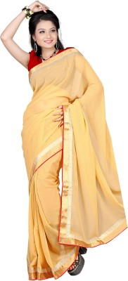 Florence Self Design Fashion Synthetic Chiffon Sari
