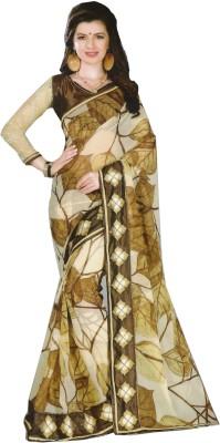 wingsenterprises Floral Print Fashion Pure Chiffon Sari