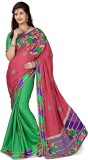 Aasvaa Embroidered Fashion Crepe Saree (...