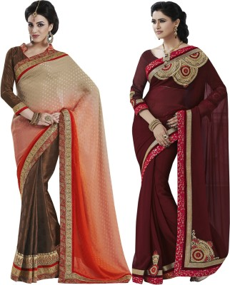 Indian Women By Bahubali Embellished Fashion Jacquard Sari