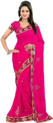 Murli Manohar Fashions Embriodered Bollywood Handloom Georgette Sari