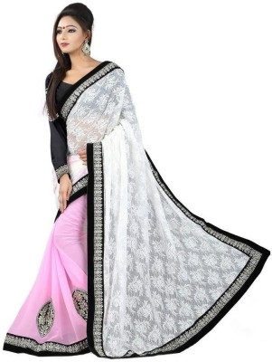 Vihana Embriodered Bollywood Net Sari
