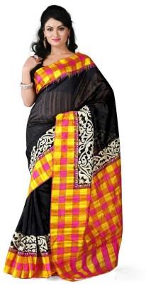 Bhavya Sarees Printed Bhagalpuri Handloom Pure Silk Sari