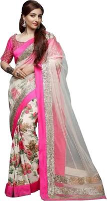 Jija Floral Print Fashion Georgette Sari
