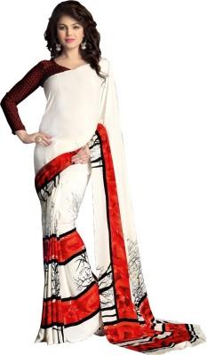 Daksh Enterprise Printed Daily Wear Crepe Sari
