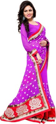 Aasvaa Self Design Fashion Chiffon Sari