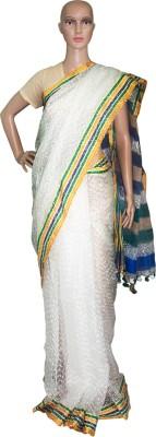 Prateeti Self Design Fashion Handloom Tissue Sari