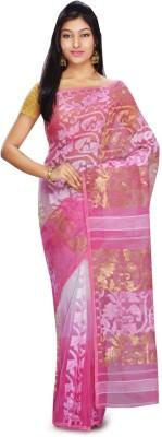 FabIndian Embellished Jamdani Handloom Cotton Sari