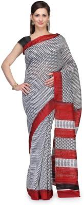 Cenizas Printed Bhagalpuri Silk Cotton Blend Sari