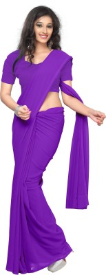 Sonika Plain Fashion Georgette Sari