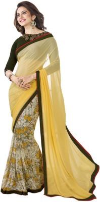 TriveniCreation Printed Fashion Georgette Sari