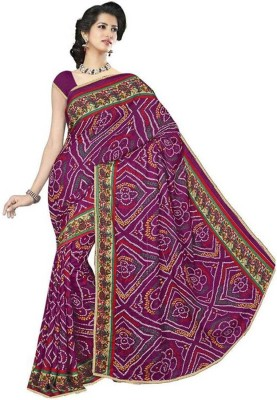 She Fashion Printed Bandhani Georgette Sari