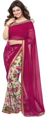 Vrutti Fashion Printed Bollywood Chiffon Sari