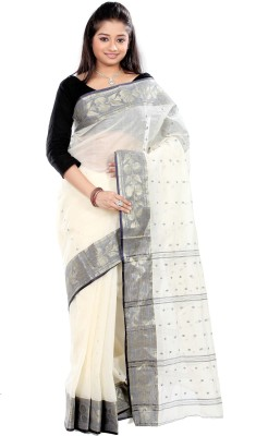 B3Fashion Solid Tant Cotton Sari