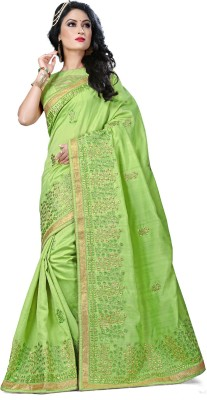 chhabra xclusive Embriodered Fashion Art Silk Sari