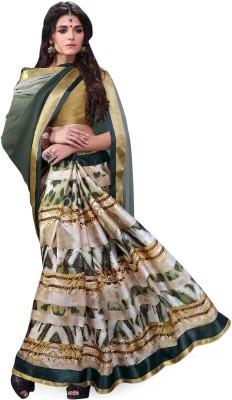 Indianbeauty Self Design, Printed Fashion Pure Georgette Sari