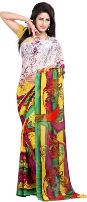Aarnas Fashion Printed Fashion Georgette Sari