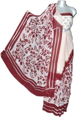 Kreasions Floral Print Fashion Handloom Georgette Sari