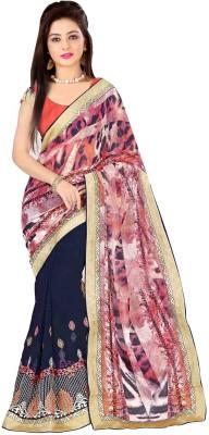 Dilwaa Self Design, Embriodered Fashion Georgette Sari