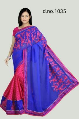 Radhe Fashion Embriodered Fashion Handloom Cotton, Jacquard Sari