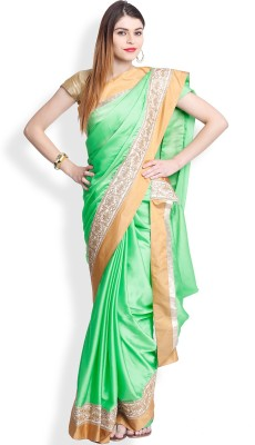 Utsava Plain Bollywood Crepe Sari